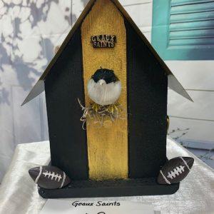 Geaux Saints Birdhouse