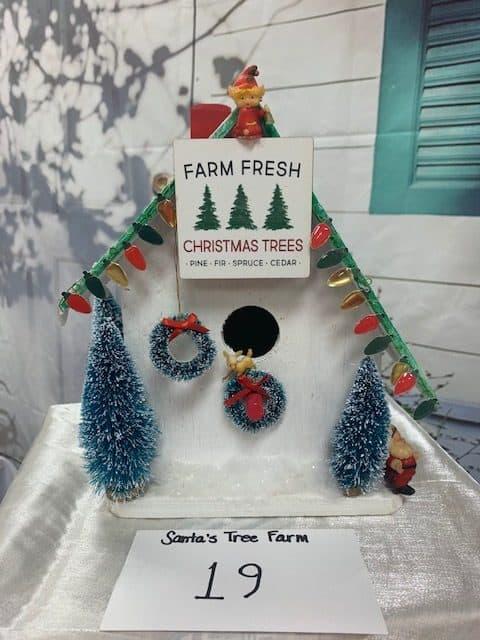 Santa's Tree Farm Birdhouse