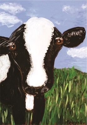 Black white Cow