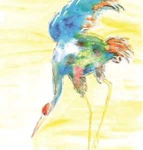 Water Color Crane Mohammad