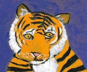 Purple Gold Tiger