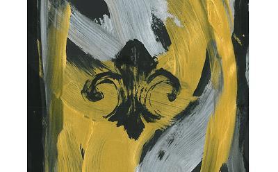 Fleur de lis black gold heaven