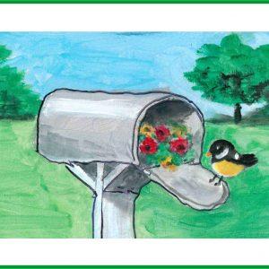 mailbox birdie